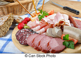 Stock Photo of Bavarian snack plate.