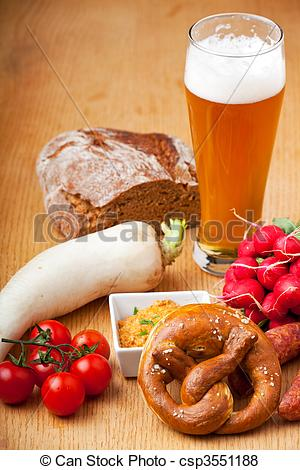 Pictures of typical bavarian snacks csp3551188.