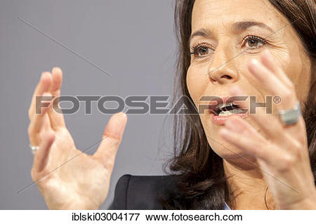 """Picture of """"Anne Will, journalist and television host of the ARD."""
