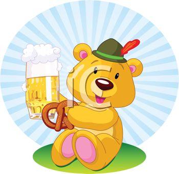 Royalty Free Clipart Image of an Oktoberfest Bear.