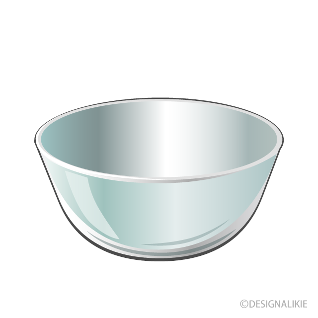 Free Glass Bowl Clipart Image|Illustoon.