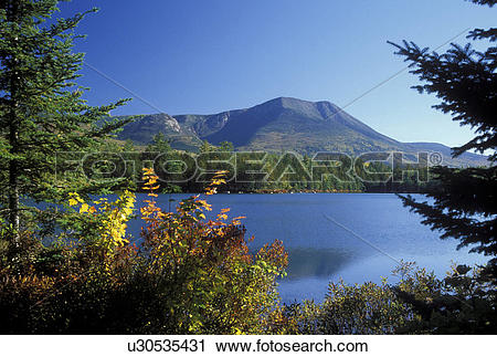 Stock Photography of ME, Maine, Baxter State Park, Scenic view of.