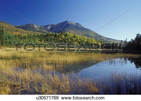 Stock Photograph of ME, Maine, Baxter State Park, Scenic view of.