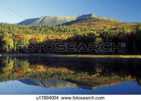 Stock Photo of ME, Maine, Baxter State Park, Scenic view of Mt.