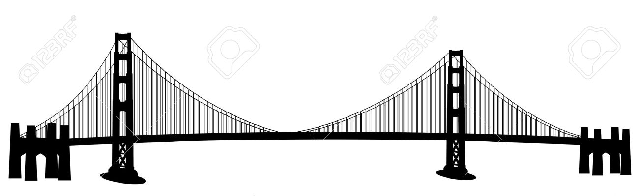 Bay bridge clipart.