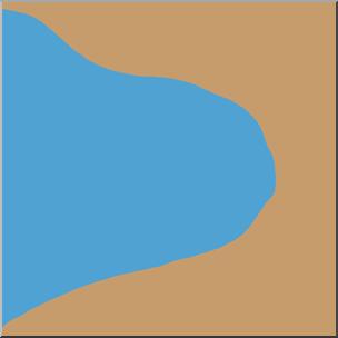 Clip Art: Landforms: Bay Color I abcteach.com.
