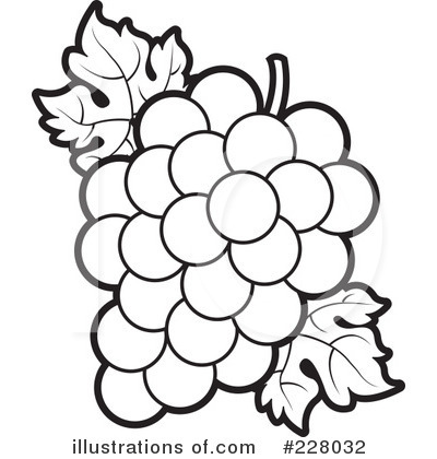 Grape Leaf Black And White Clipart.