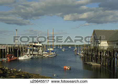 Picture of Rockland, ME, Maine, Penobscot Bay, harbor u25645517.