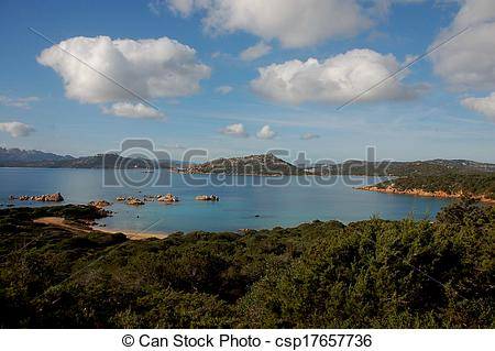 Stock Photos of bay harbor porto palma (caprera sa.