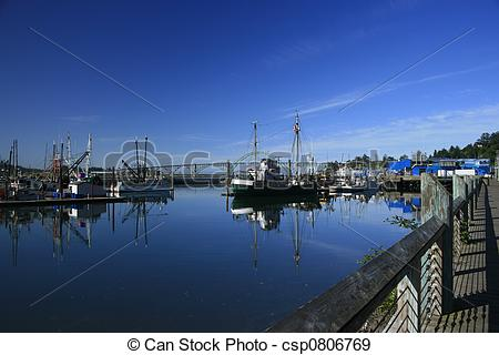 Stock Photographs of Yaquuina Bay Harbor.
