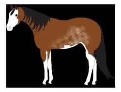 Paint horse clip art.