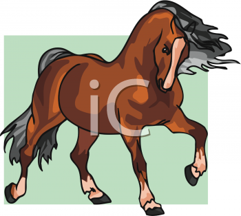 Bay Horse Clipart Picture.