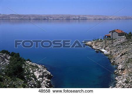 Pictures of Hut on island, Pag Island, Kvarner Bay, Croatia 48558.