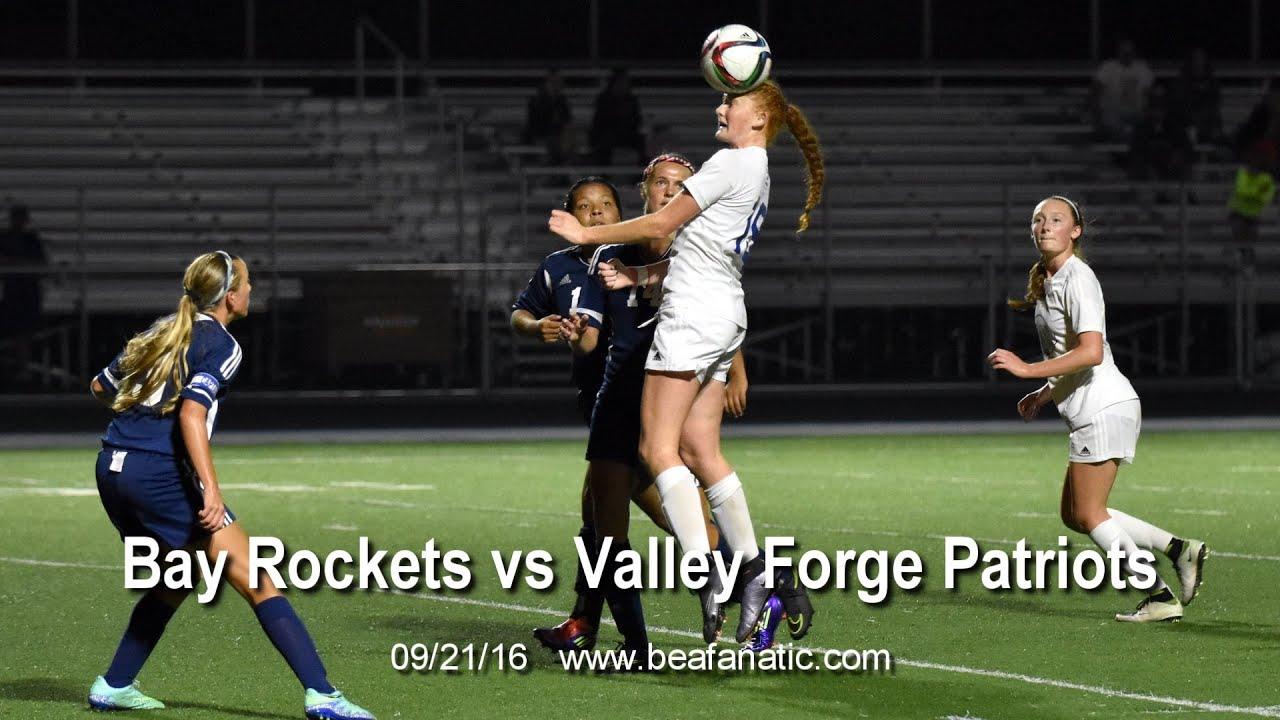 Bay Rockets vs Valley Forge Patriots Womens Varsity Soccer.