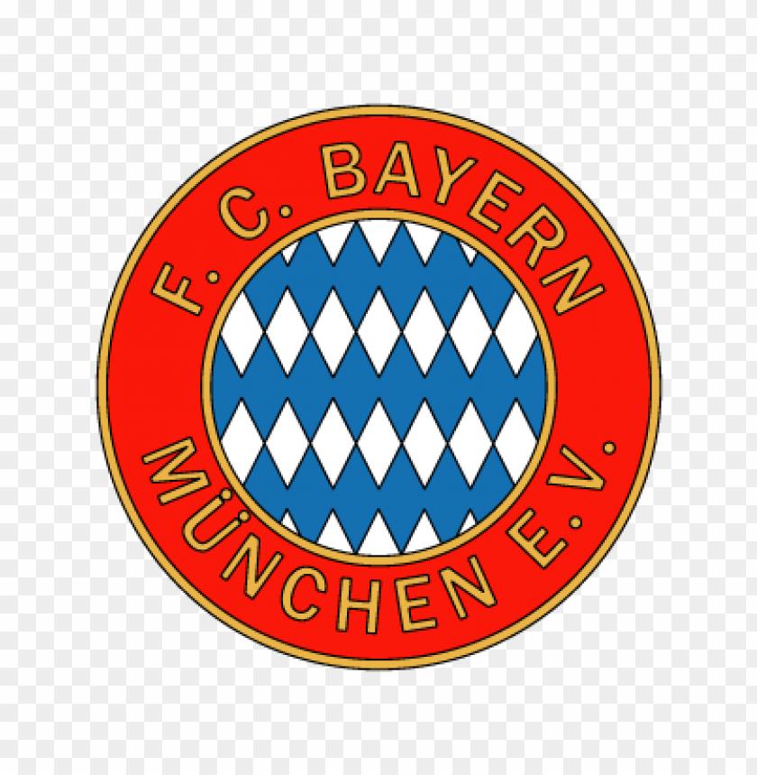 fc bayern munchen e.v. (1970\'s logo) vector logo.