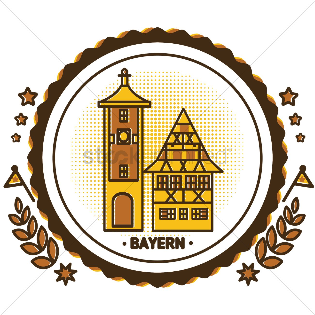 Bayern munich town hall Vector Image.