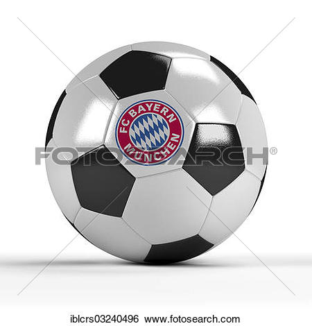 Stock Images of Football with the logo of FC Bayern Munich.