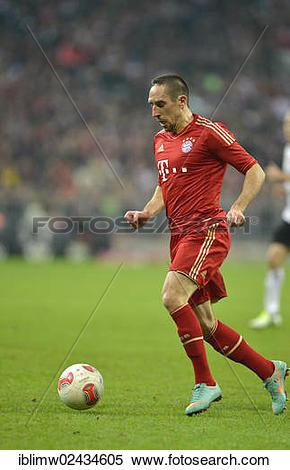 """Stock Image of """"Franck RIBERY, FC Bayern Munich, playing the ball."""