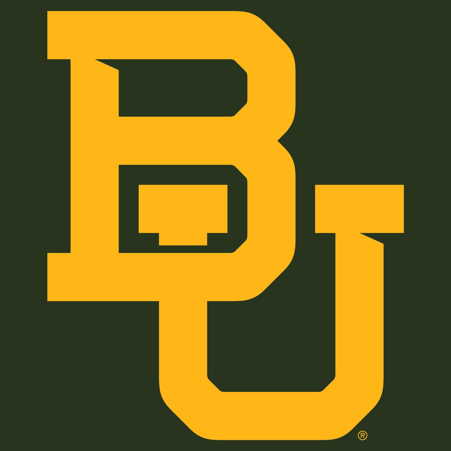 Baylor University Bears Interlocking BU Logo T Shirt.