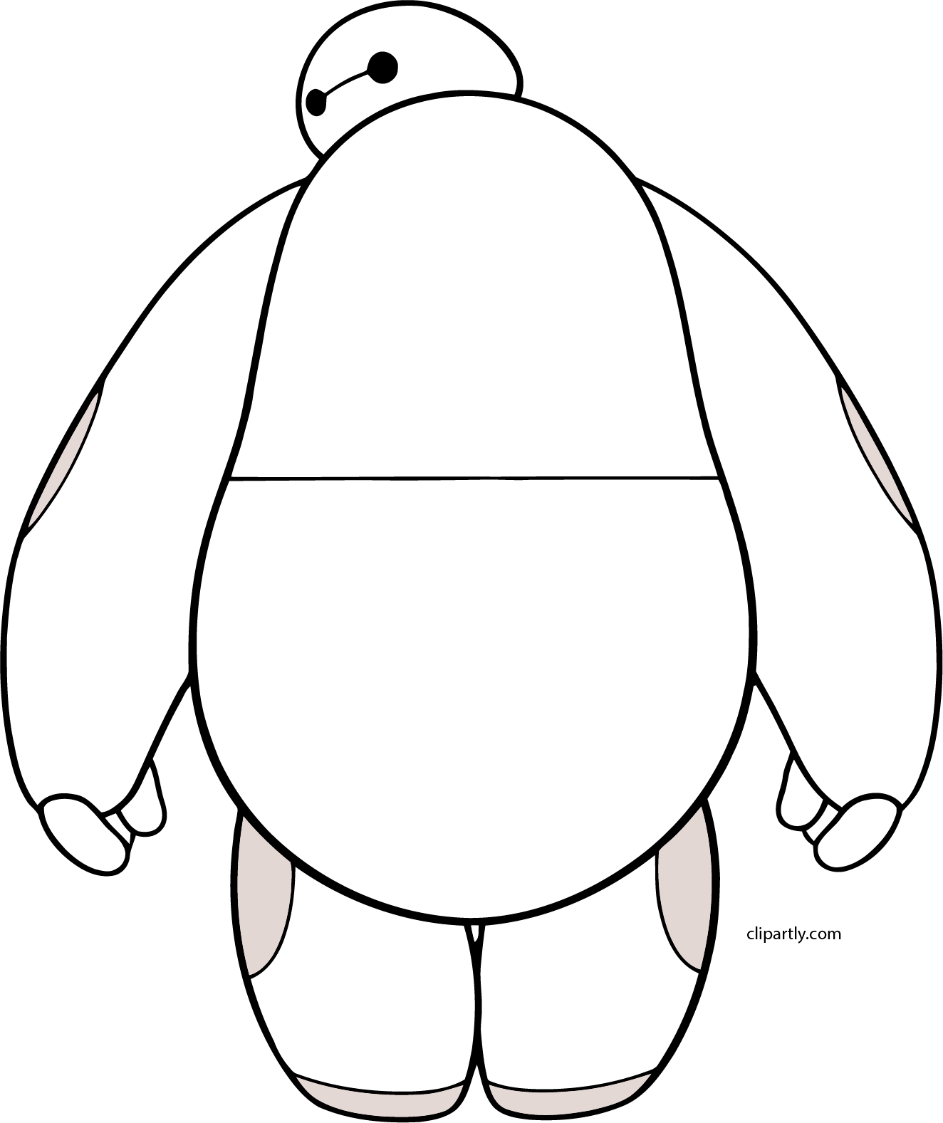 Baymax Back Png Clipart.