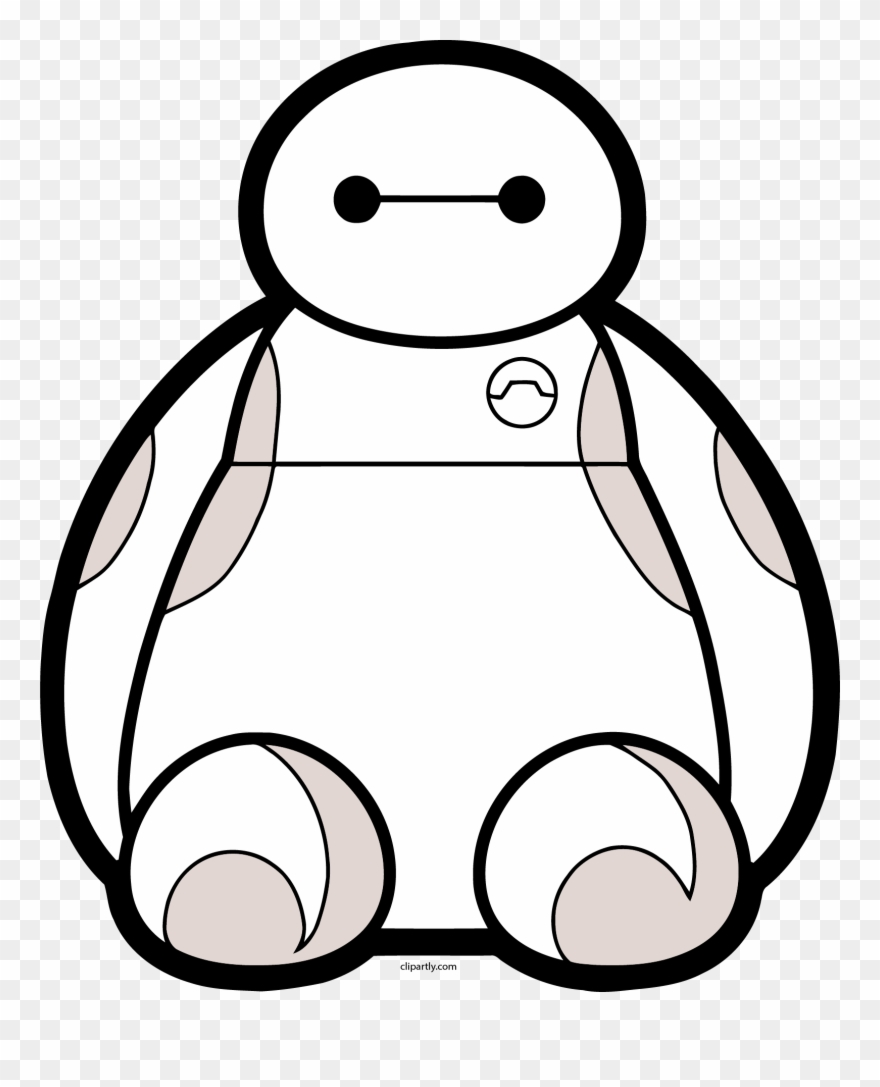 Baymax Front View Png Clipart.