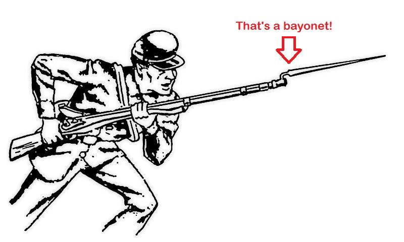 bayonet.