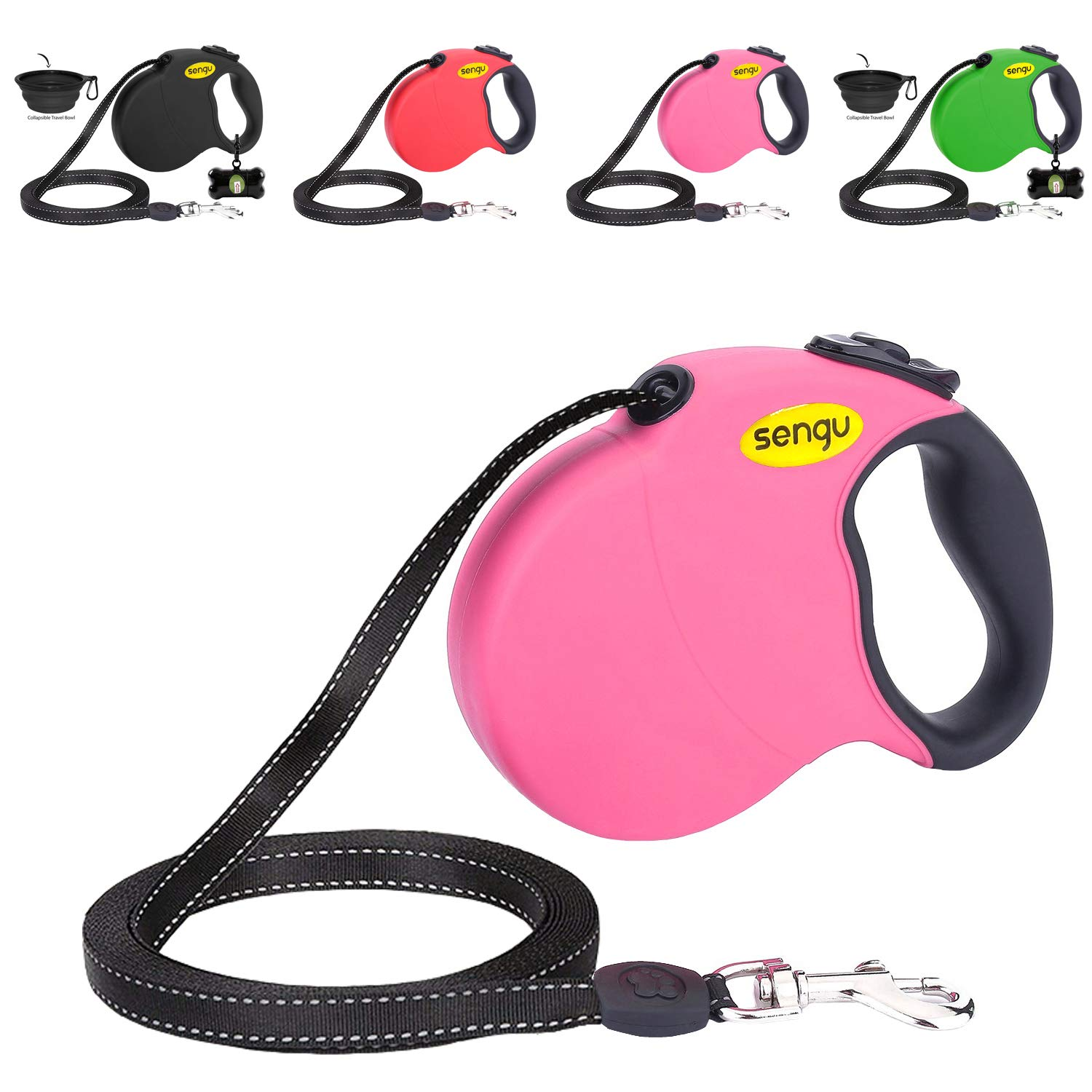 Retractable Dog Leash 16ft, Strong Durable, Walking Leash Large Medium  Small Dogs 110lbs, Comfortable Anti.