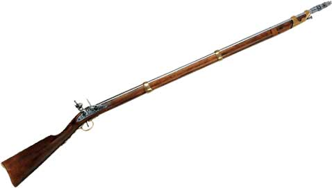 French Musket With Bayonet. :: Prop and Collectible Replica.