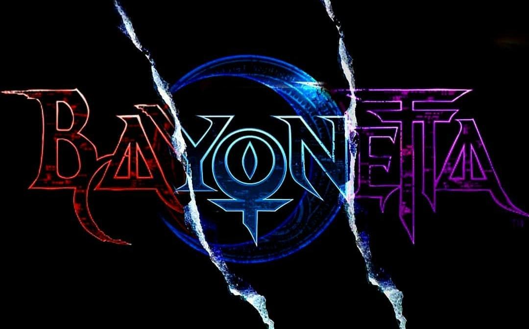 Fusion of the three Bayonetta logos : Bayonetta.