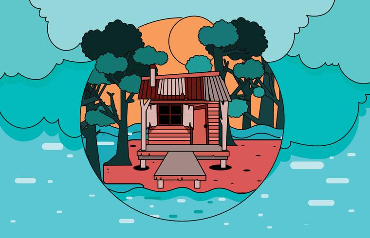 Bayou House Vector.