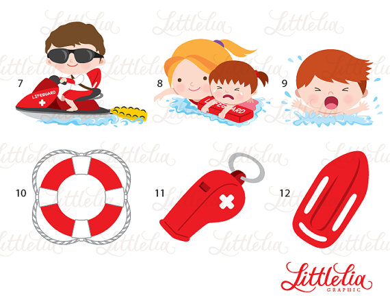 lifeguard clipart baywatch clipart 16021 by LittleLiaGraphic.