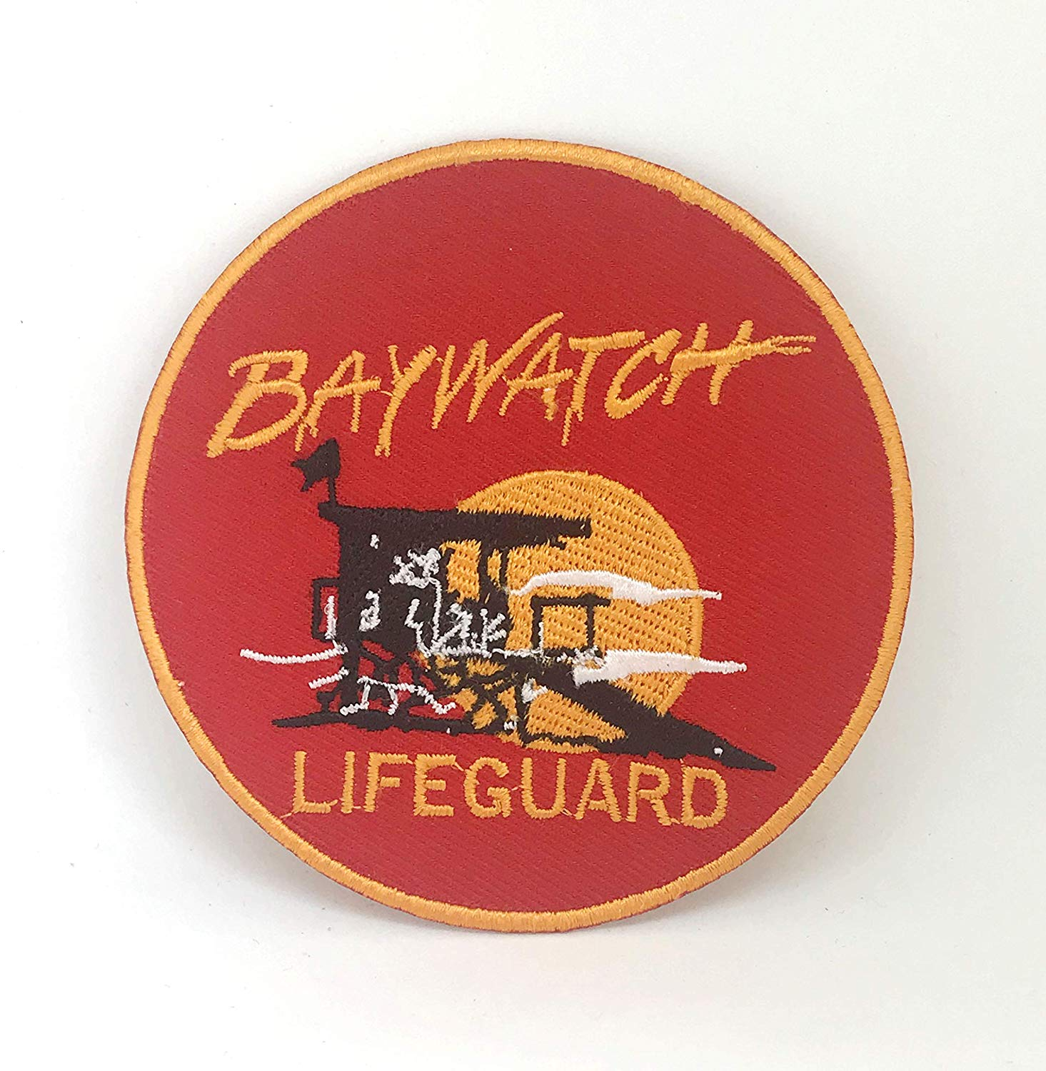 Baywatch Swimsuit Lifeguard Logo Iron.