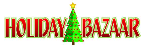 Christmas Bazaar Clipart.