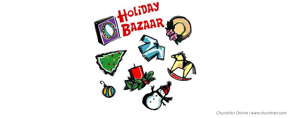 Free Christmas Bazaar Clipart.