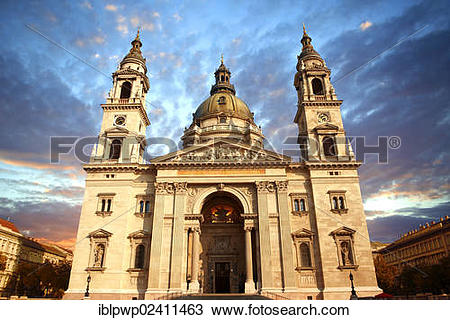 "Stock Photo of ""St Stephen's Basilica, Szent Istvan Bazilika, Neo."