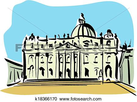Clipart of Rome (St. Peter's Basilica) k18366170.