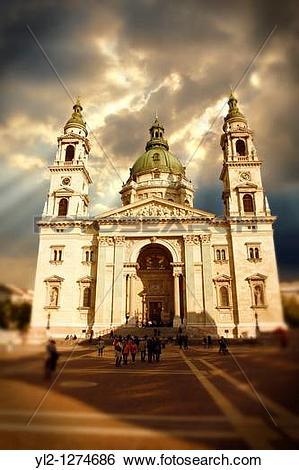 Stock Images of St Stephen's Basilica, Szent Istvan Bazilika , Neo.