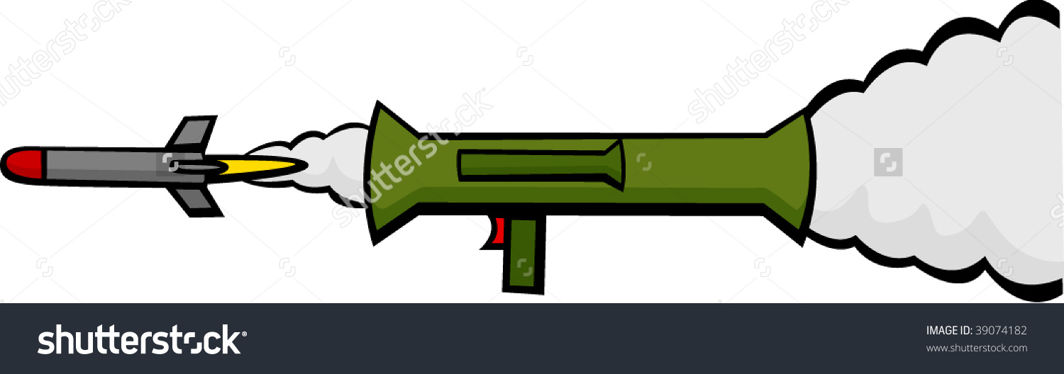 Bazooka Weapon Firing Rocket Stock Vector 39074182.