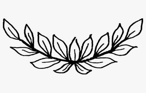 Free Leaves Black And White Clip Art with No Background.
