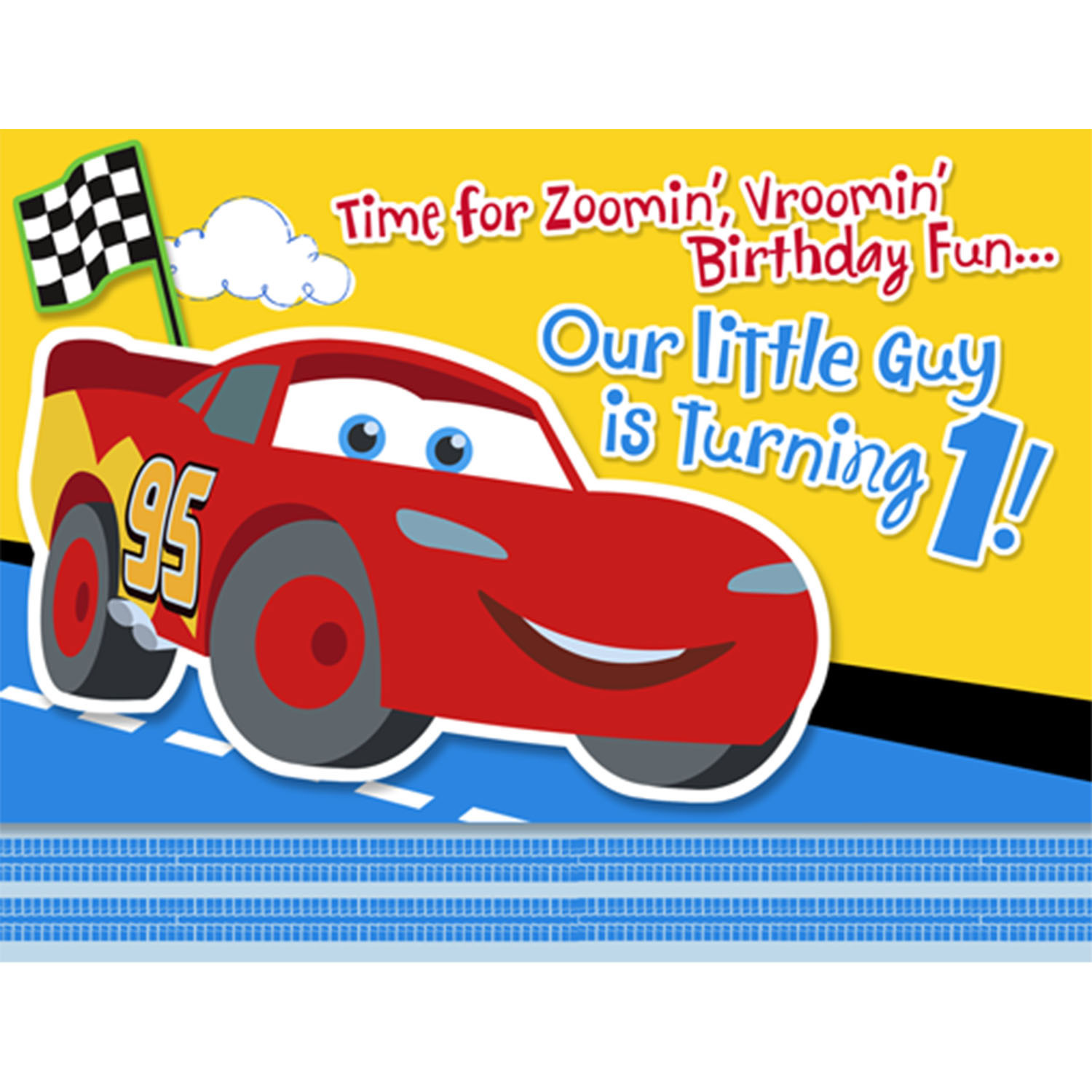 1st Birthday Disney Cars Clipart.