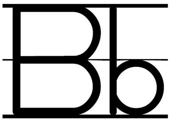 Letter Bb Clipart.