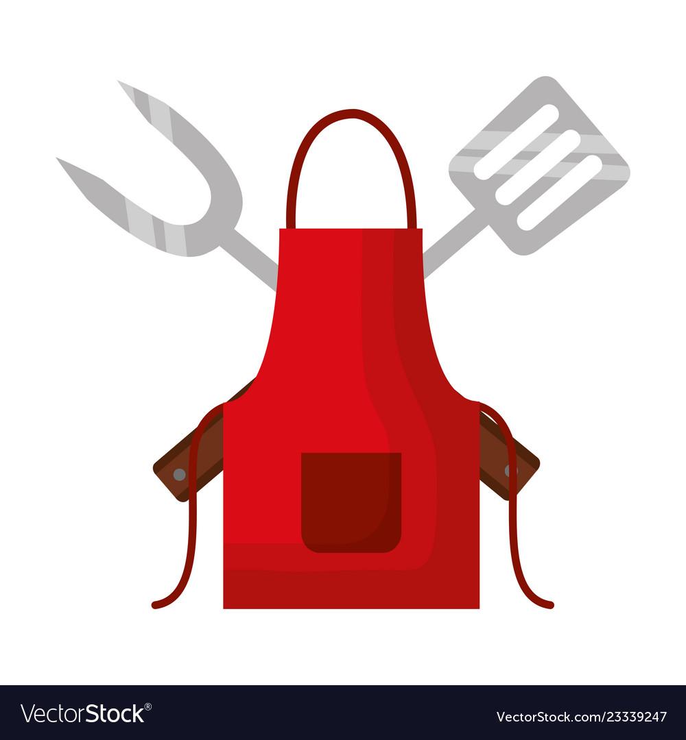 Barbecue apron fork and spatula.