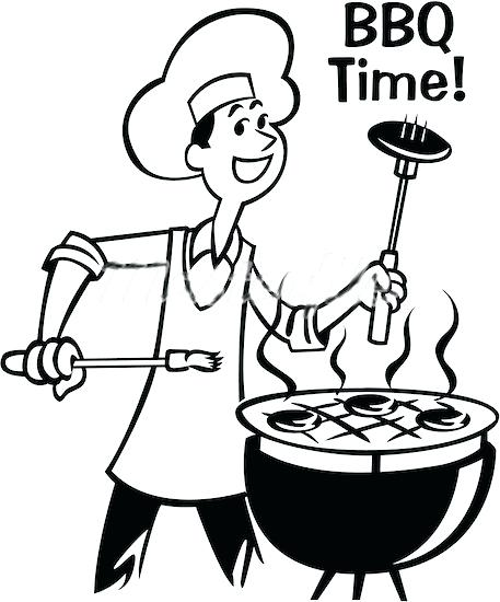 Bbq grill clipart black and white 2 » Clipart Station.