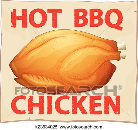 BBQ chicken Clipart.