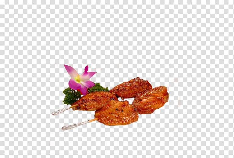 Barbecue chicken Chuan Buffalo wing, barbecue transparent background.