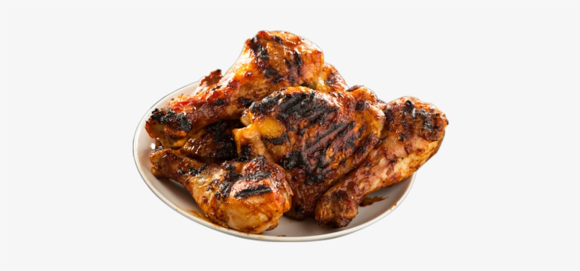 Bbq Chicken Png Vector Black And White Stock.