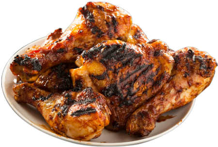 Download HD Bbq Chicken Png Vector Black And White Stock.