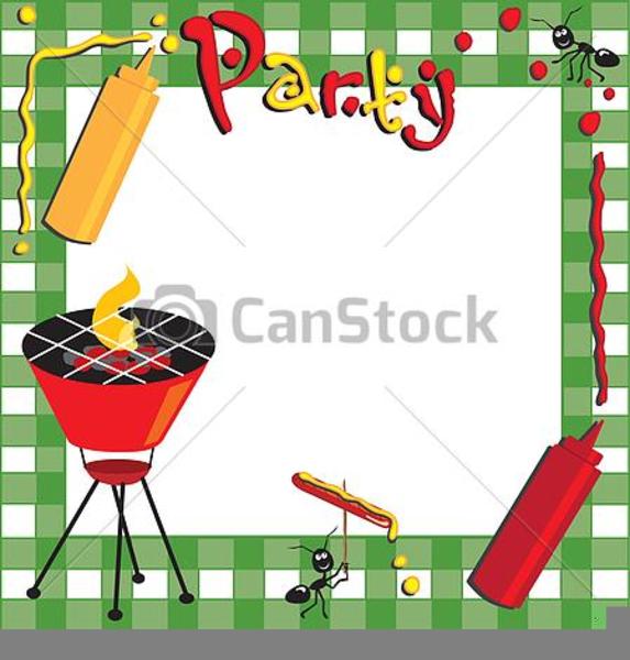 Barbecue Border Clipart.