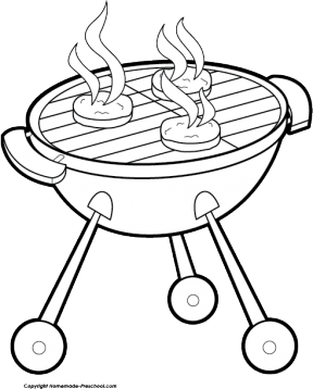 Bbq Clipart Black And White.