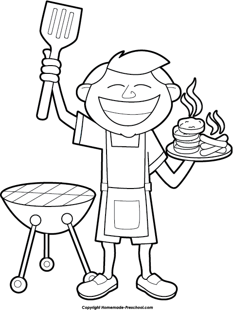 Bbq Black And White Clipart.